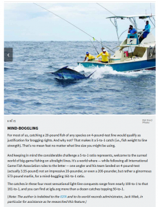 Huge marlin world-record catches on ridiculously thin lines-team-work