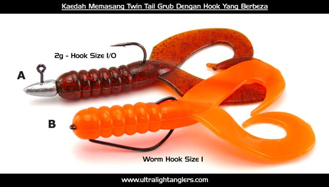 Kaedah-Memasang-Twin-Tail-Grub-Dengan-Hook-Yang-Berbeza