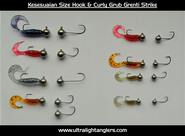 Kesesuaian-Size-Hook-&-Curly-Grub-Grenti-Strike