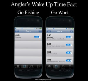 Angler's Wake Up Time Fact